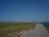 Fietsen op de dijk van Ameland aan de Waddenzee huisje ameland vakantie