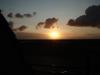 Ondergaande zon vanuit het complex huisje ameland vakantie